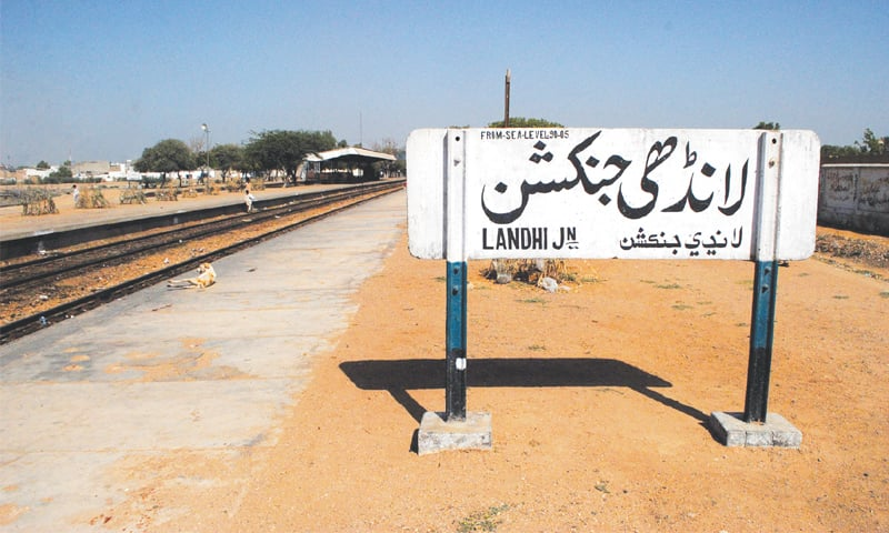 A VIEW of the Landhi railway station tucked away in a far corner of Karachi.—White Star