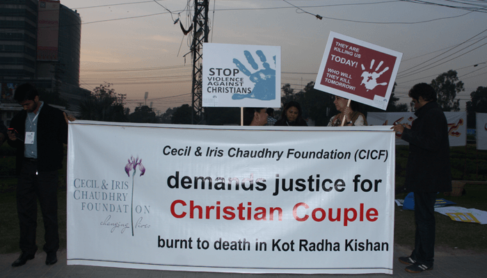 CICF organised a protest rally in order to demand Justice for the ill fated couple. Photo courtesy: CICF