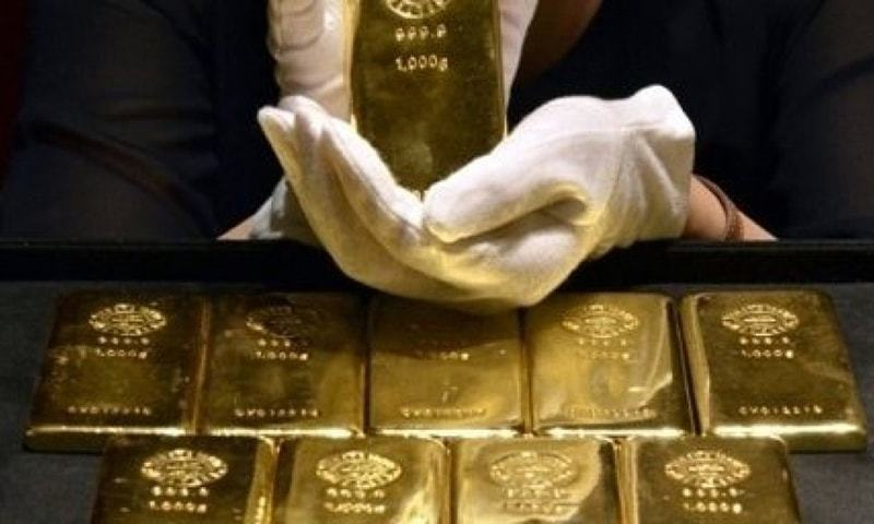 Spot gold was up 0.2 per cent at $1,289.31 an ounce by 1556 GMT. — AFP/File