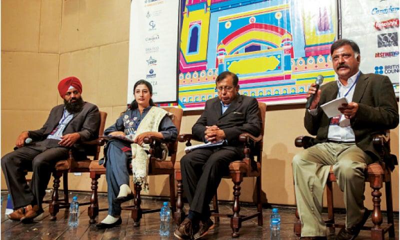 Kalyan Singh, Khola Cheema, Jameel Paul and Amir Riaz in a ThinkFest session. — White Star
