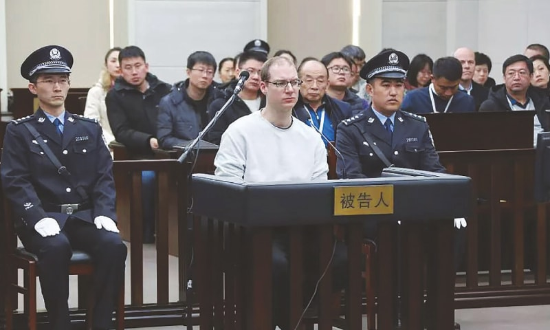 China sentences Canadian to death, raises tension