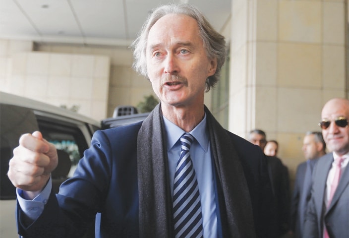 UN special envoy to Syria Geir Pedersen arrives in Damascus on Tuesday.—AFP
