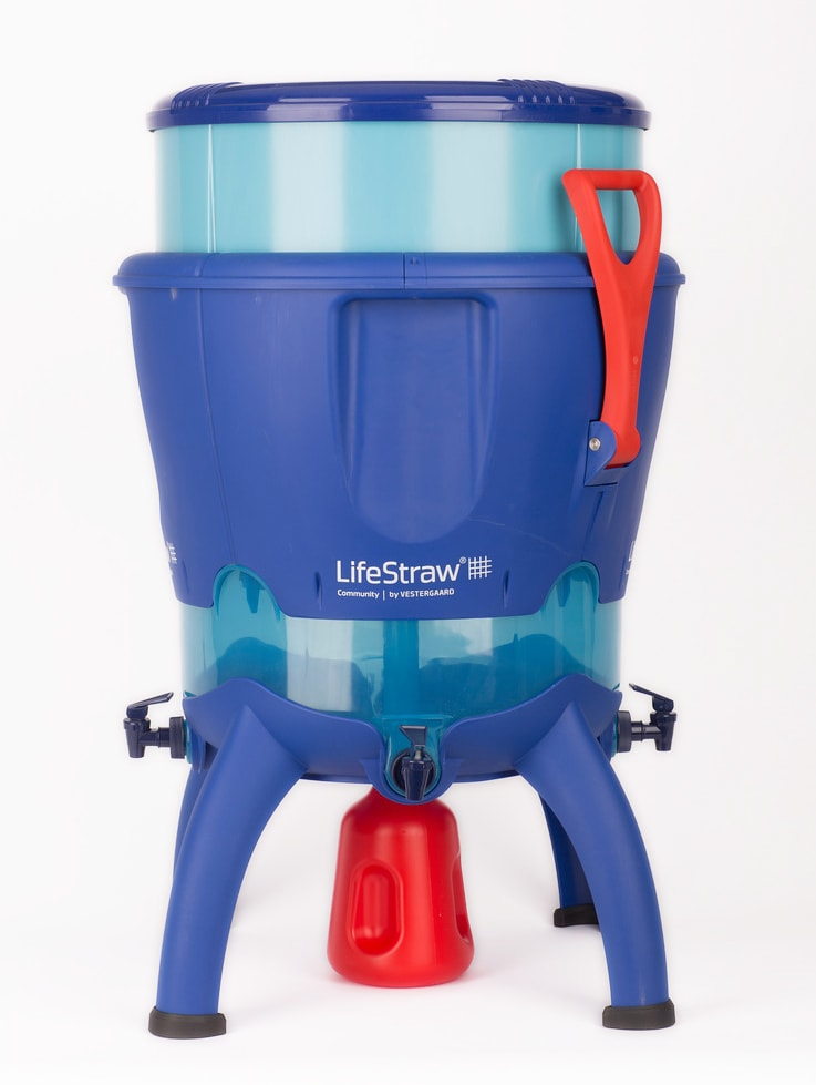 The Community product can hold up to 25,000 gallons of water