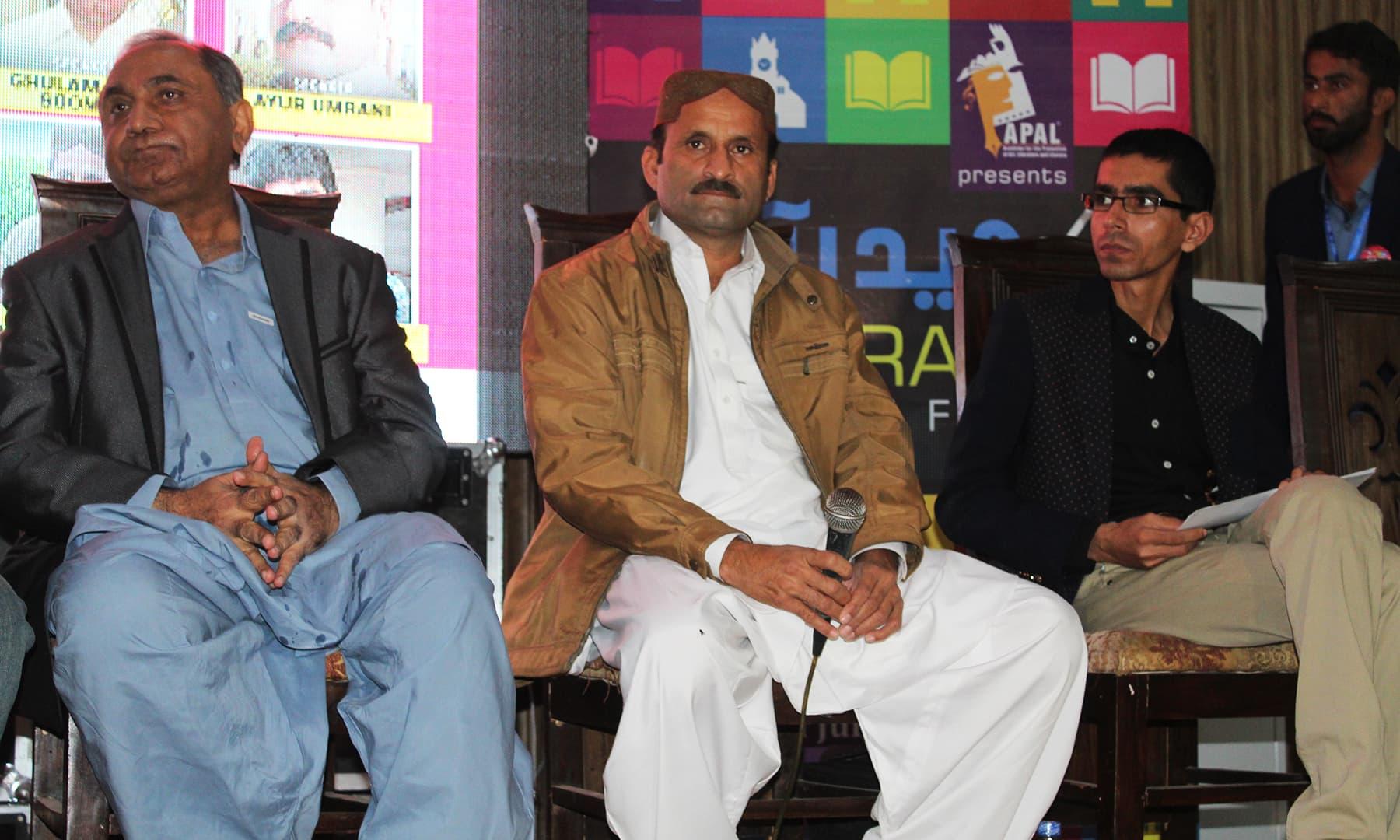 حیدرآباد لٹریچر فیسٹیول میں مختلف موضوعات پر نشستوں کا اہتمام کیا گیا تھا—تصویر اختر حفیظ