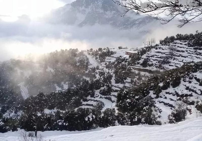 آج کل سردیوں کا موسم ہے اور پہاڑوں پر برف باری کا سلسلہ جاری ہے—تصویر نصیب یار چغرزئے