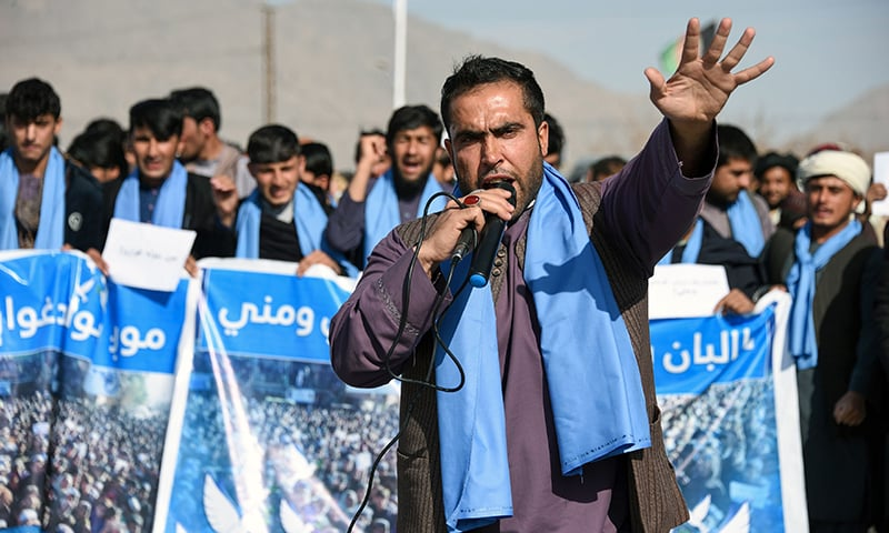 'We want ceasefire': Hundreds of protesters march for peace in Afghanistan
