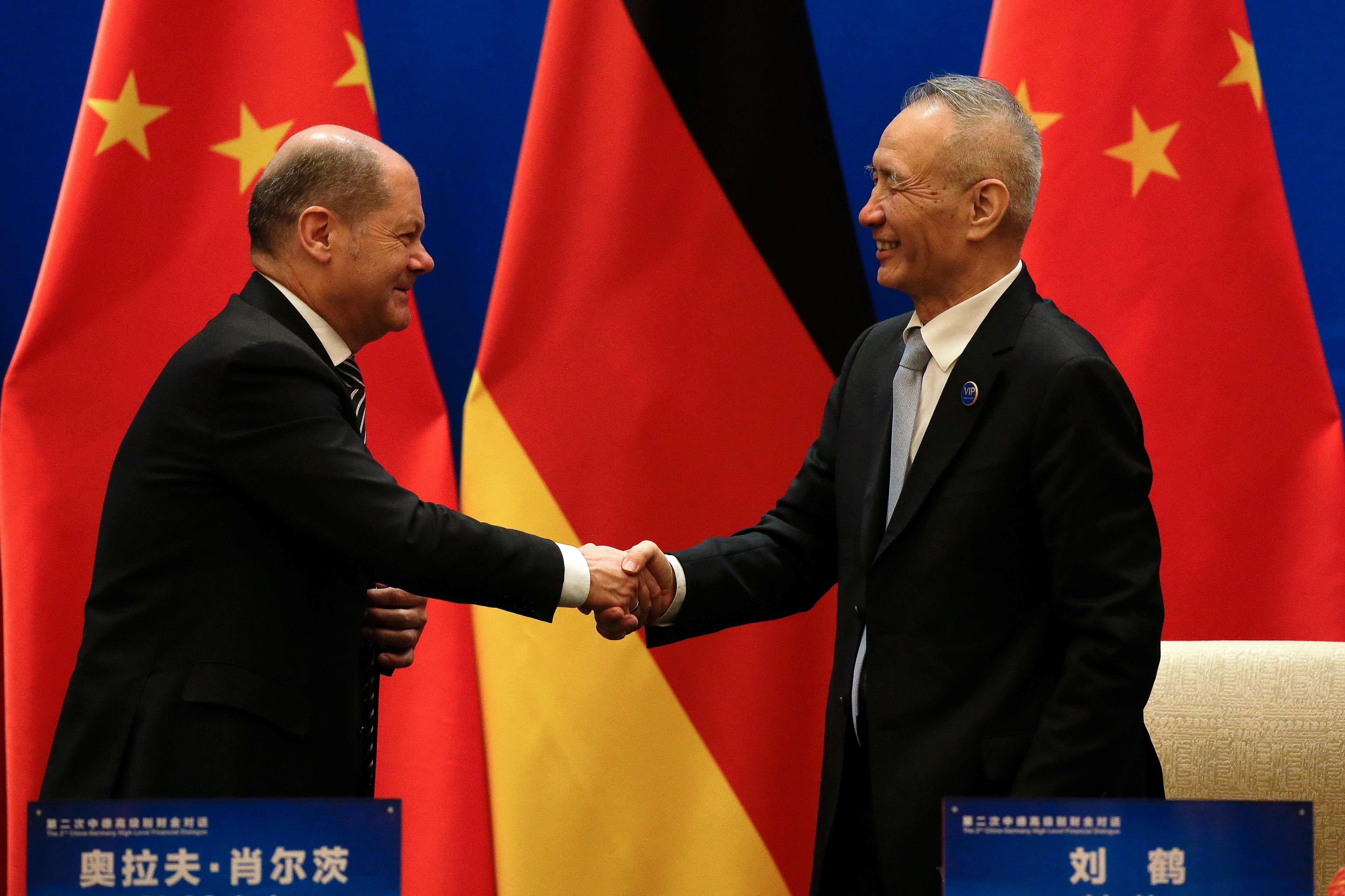 The two sides affirmed support for a global trading system. — AFP