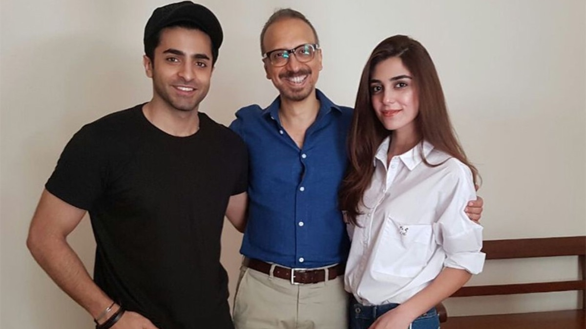 Raza pictured with Sheheryar and Maya