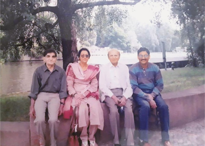 L-R: Nirmal Verma, Khalida Husain, Intizar Husain and Asif Farrukhi during a visit to Berlin, Germany, in 1997 | Photo courtesy Asif Farrukhi