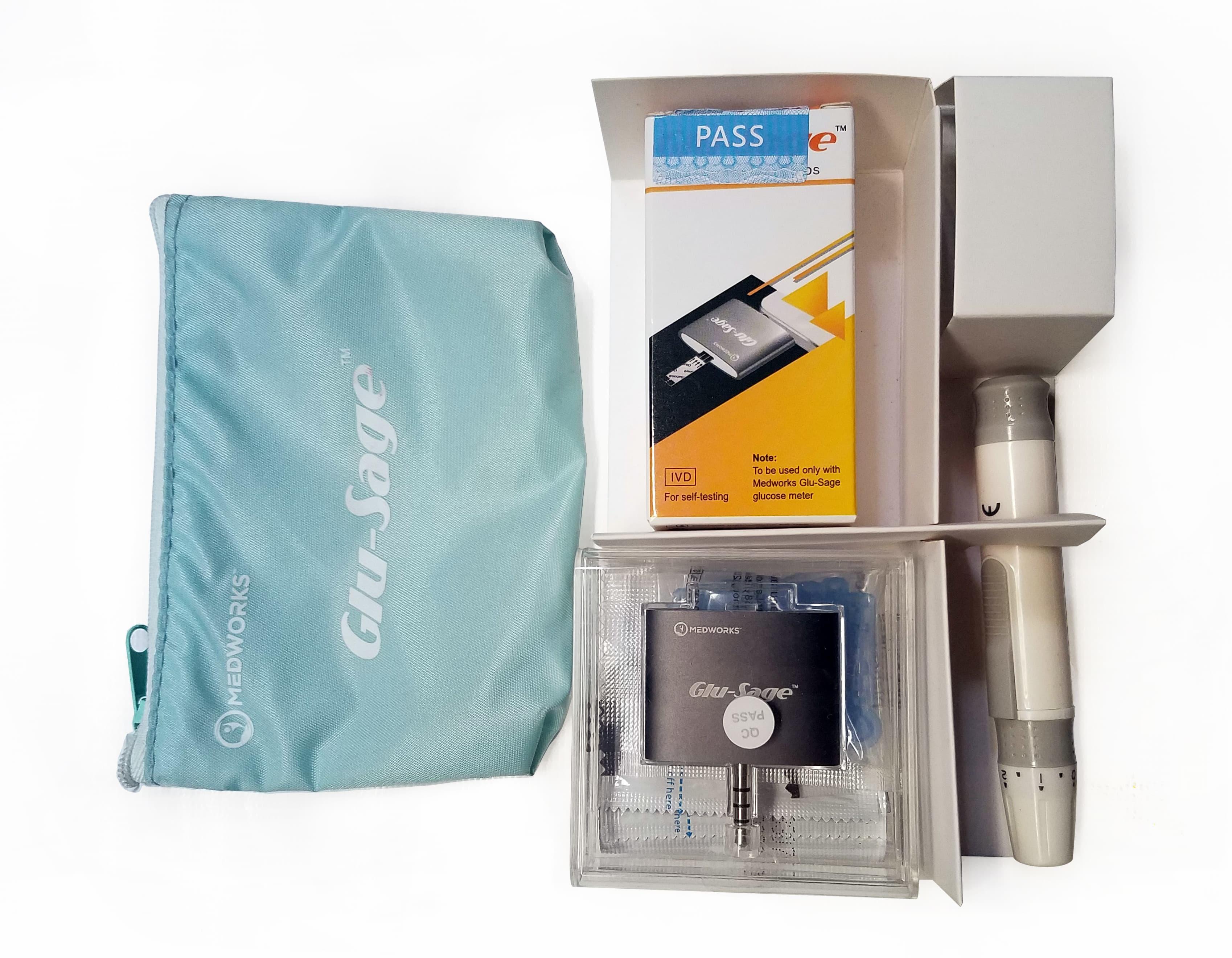 Glu-Sage kit contents.