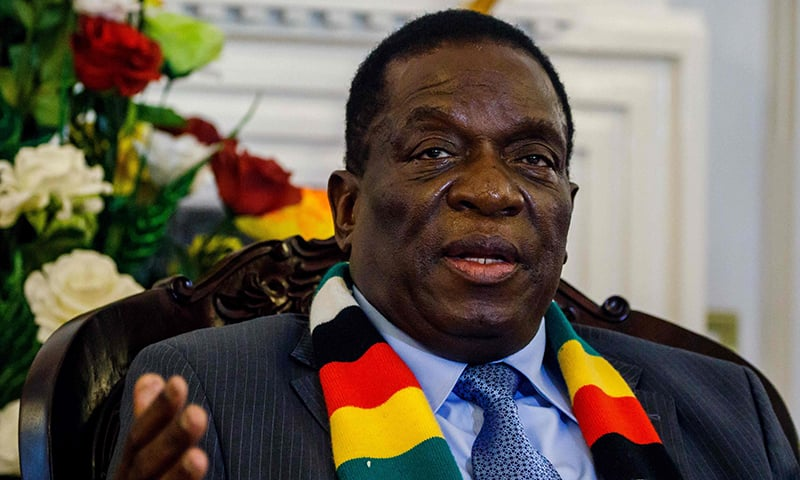 In this file photo Zimbabwe's President Emmerson Mnangagwa answers questions during a press conference to announce ministers of his new cabinet at State House in Harare, Zimbabwe. — AFP