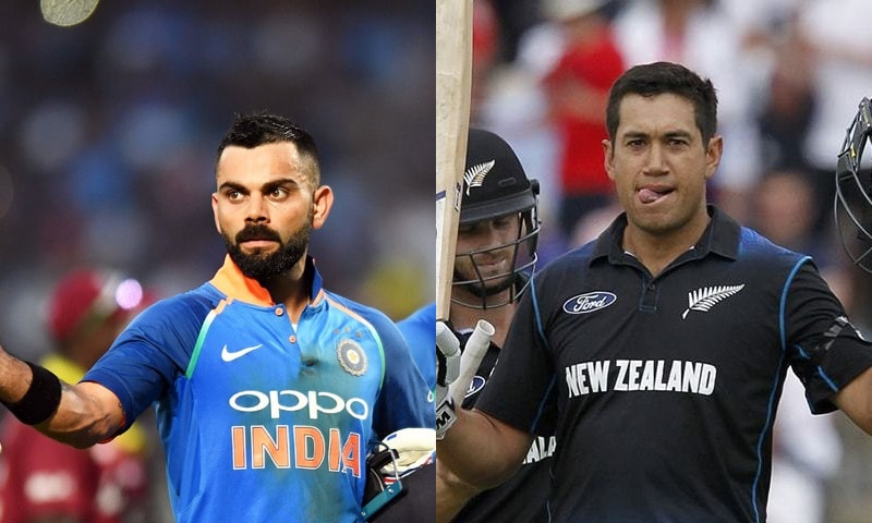 For Virat Kohli and Ross Taylor, it's a personal battle, with both in electric form and looking to gain a psychological edge. — File photo