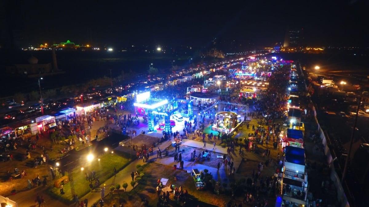 Drone shot of Karachi Eat Fest 2019