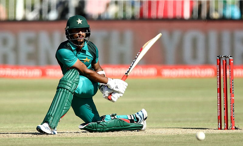 Hassan Ali of Pakistan hit a career-best 59 off 45 balls. — AFP