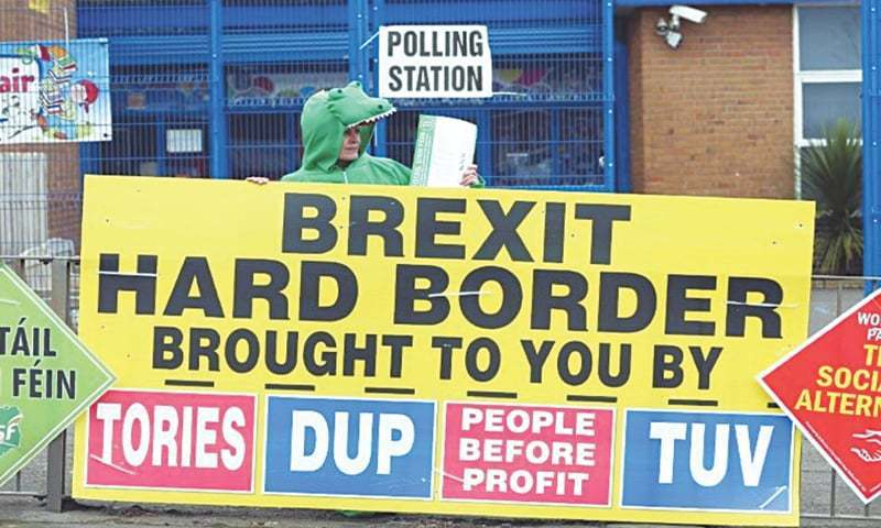 A new physical frontier between the British province and the Irish Republic would increase the threat that Brexit poses to the peace deal that ended decades of unrest. — File photo