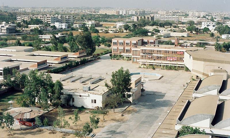 80ء کی دہائی میں این ای ڈی یونیورسٹی—تصویر عبیداللہ کیہر