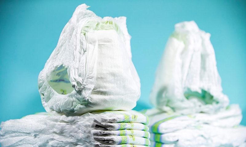 Several chemicals have been found in disposable nappies. — AFP
