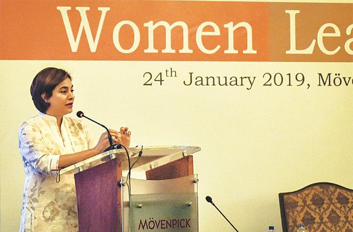 AMENA Arif, IFC country head for Sri Lanka and Maldives, addresses the gathering.—White Star
