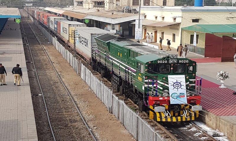 KARACHI: The second freight train carrying 75 containers is leaving for Lahore on Friday.—Dawn