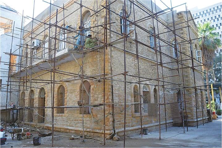 The KPC restoration underway | Aziz Soomro / EFT