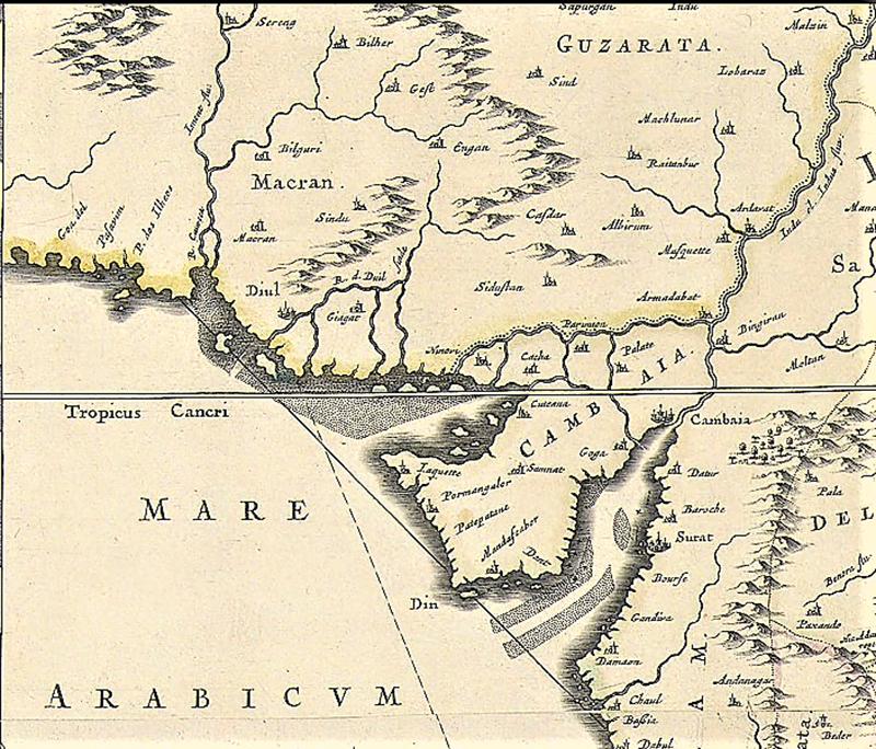 1966 کا نقشہ، جو 'دی نیو اکاؤنٹ آف دا ایسٹ انڈیز' میں شائع ہوا