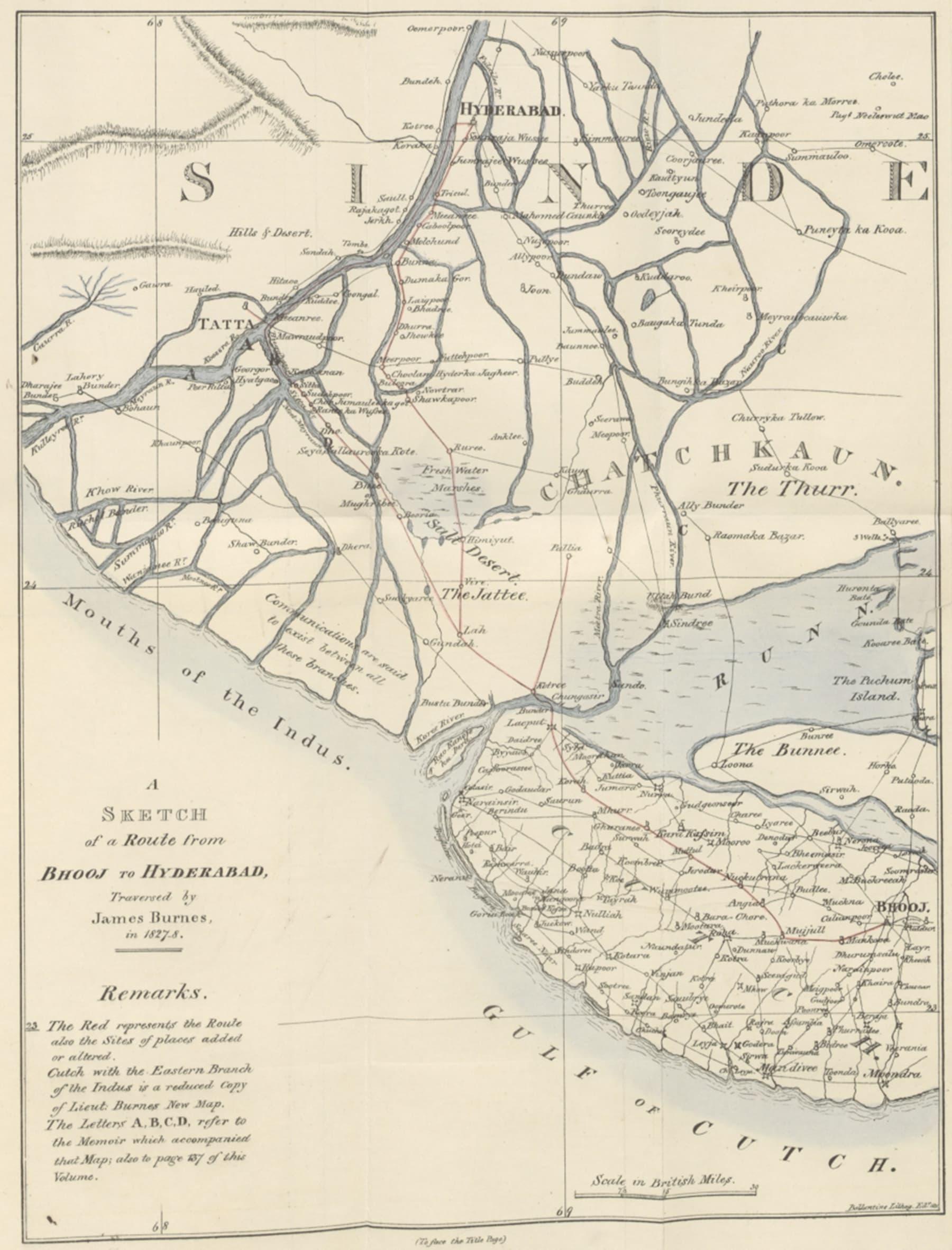 سندھ اور کچھ، 1827ء