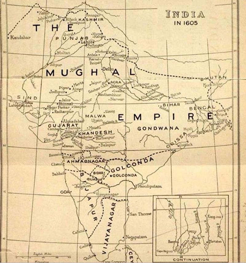 ہندوستان، 1605ء