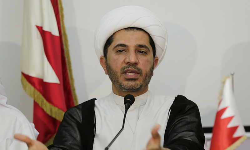 In this 2014 file photo Sheikh Ali Salman speaks in Manama, Bahrain. — AP