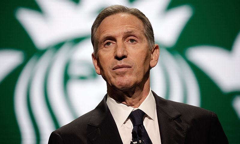 "Billionaire former Starbucks CEO Howard Schultz says he ""will run as a centrist independent outside of the two-party system."" — File"
