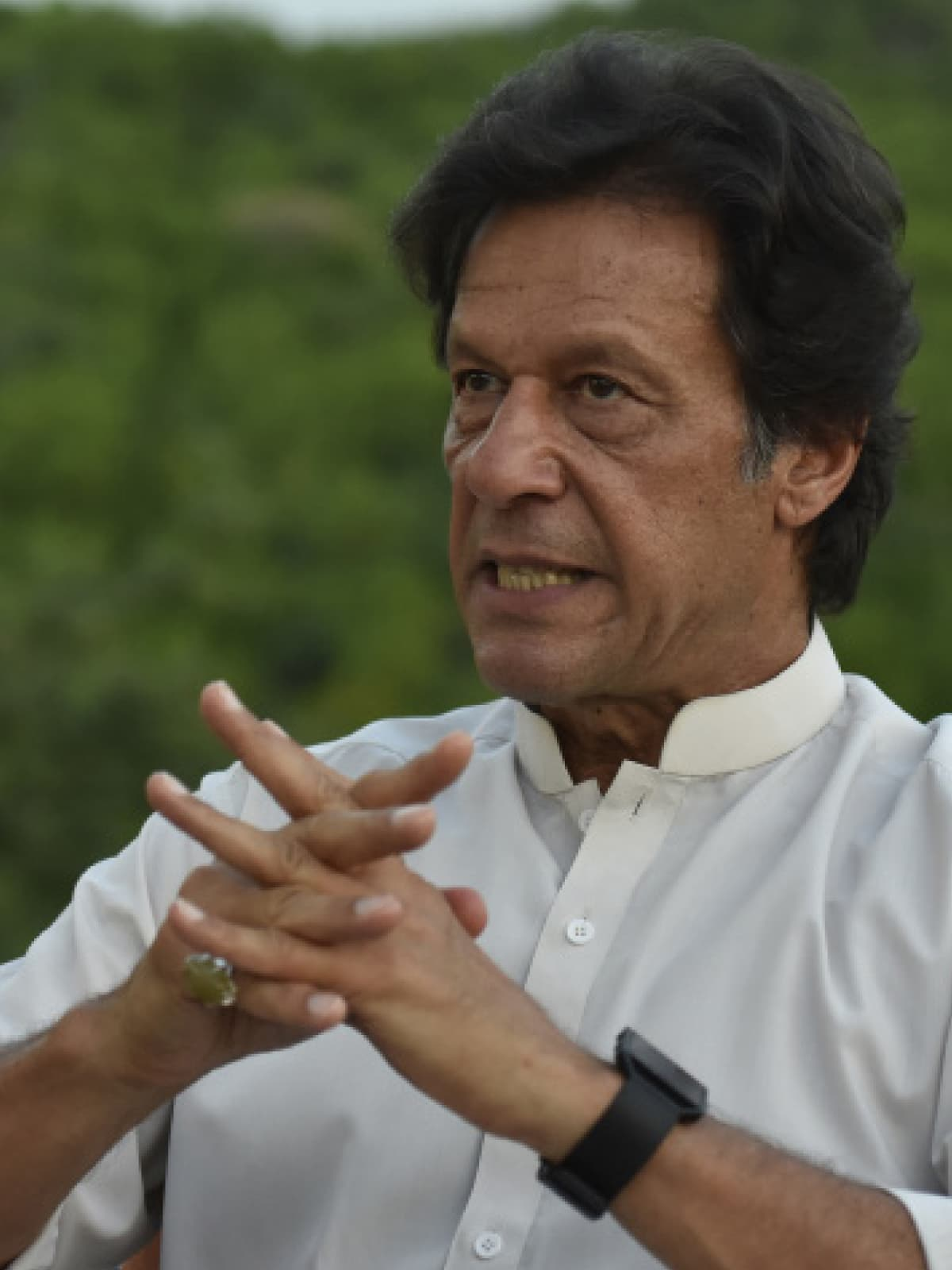 Imran Khan at his Bani Gala residence | Tanveer Shahzad, White Star