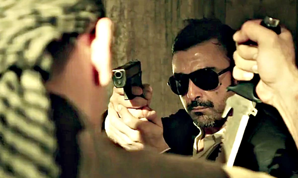 A scene from the movie *Waar*, starring Shaan Shahid