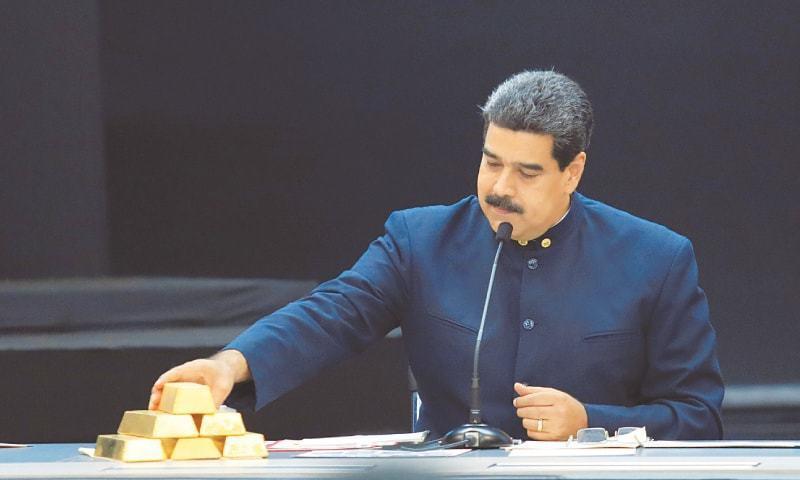 بینک آف انگلینڈ نے صدر نکولس مدورو کو ایک ارب 20 کروڑ ڈالر کا سونا نکلوانے سے روک دیا ہے