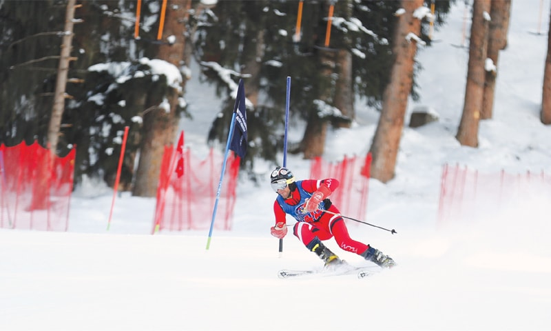 Turkish skier dominates on first day of CAS Ski Cup in Naltar