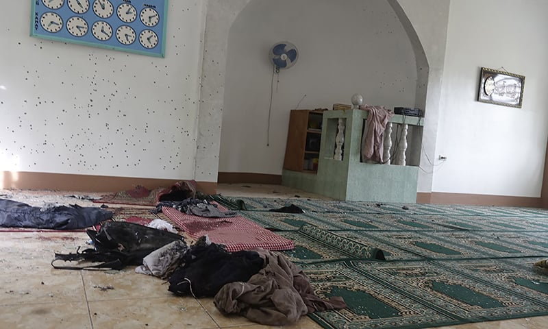 Belongings are seen inside a mosque in Zamboanga city on the southern island of Mindanao on January 30, 2019, after a grenade attack. — AFP
