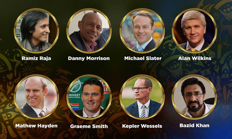 The commentary panel announced for PSL 2019. — Courtesy: psl-t20.com