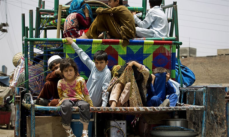KP government spokesperson says Datakhel area near the Afghan border will be cleared before the repatriation of IDPs. — File photo