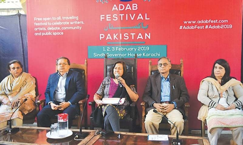 Ameena Saiyid announced the Adab Fest at a press conference