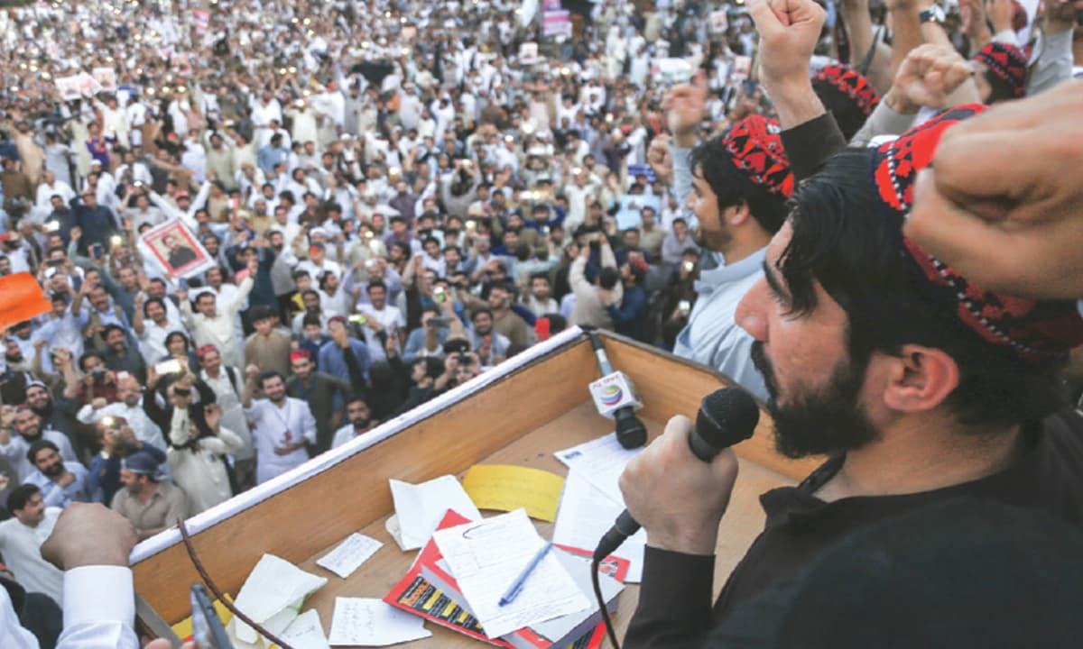 A Pashtun Tahafaz Movement rally in Lahore| Aun Jafri, White Star