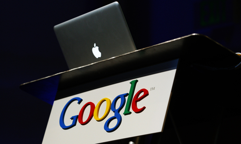"Google says it is working with Apple to fix the ""temporary disruption"". — File photo"