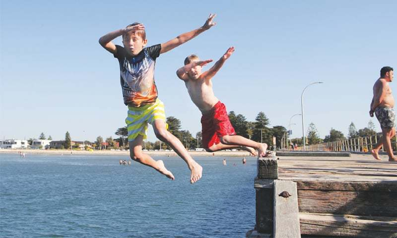 Mean temperature across Australia exceeded 30 degrees Celsius for the first time. — File photo