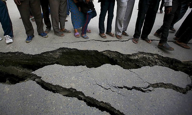 A 5.8 magnitude earthquake jolted the Kohat district of Khyber Pakhtunkhwa on Saturday evening while earlier in the day a 2.9 magnitude quake was felt in Karachi. — Reuters/File
