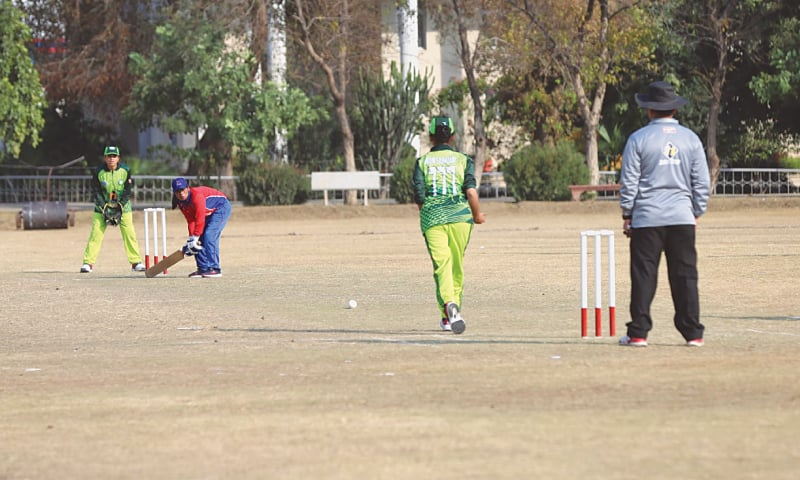 RAWALPINDI: A view of the third T20 match played here between Nepal and Pakistan blind women's cricket teams on Saturday.