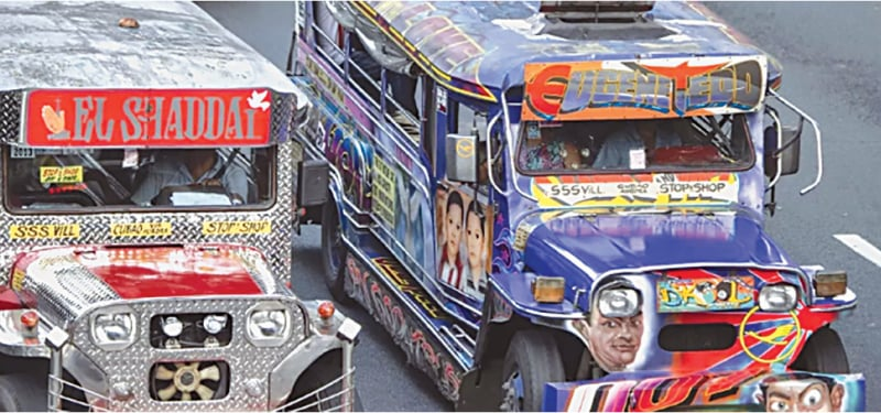 The iconic jeepneys are adorned with images of everything from Batman to babies | AFP