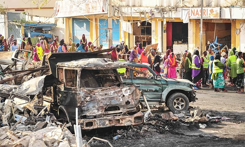 "Blast occurred in ""densely populated"" Hamarweyne market, say police. — File photo"