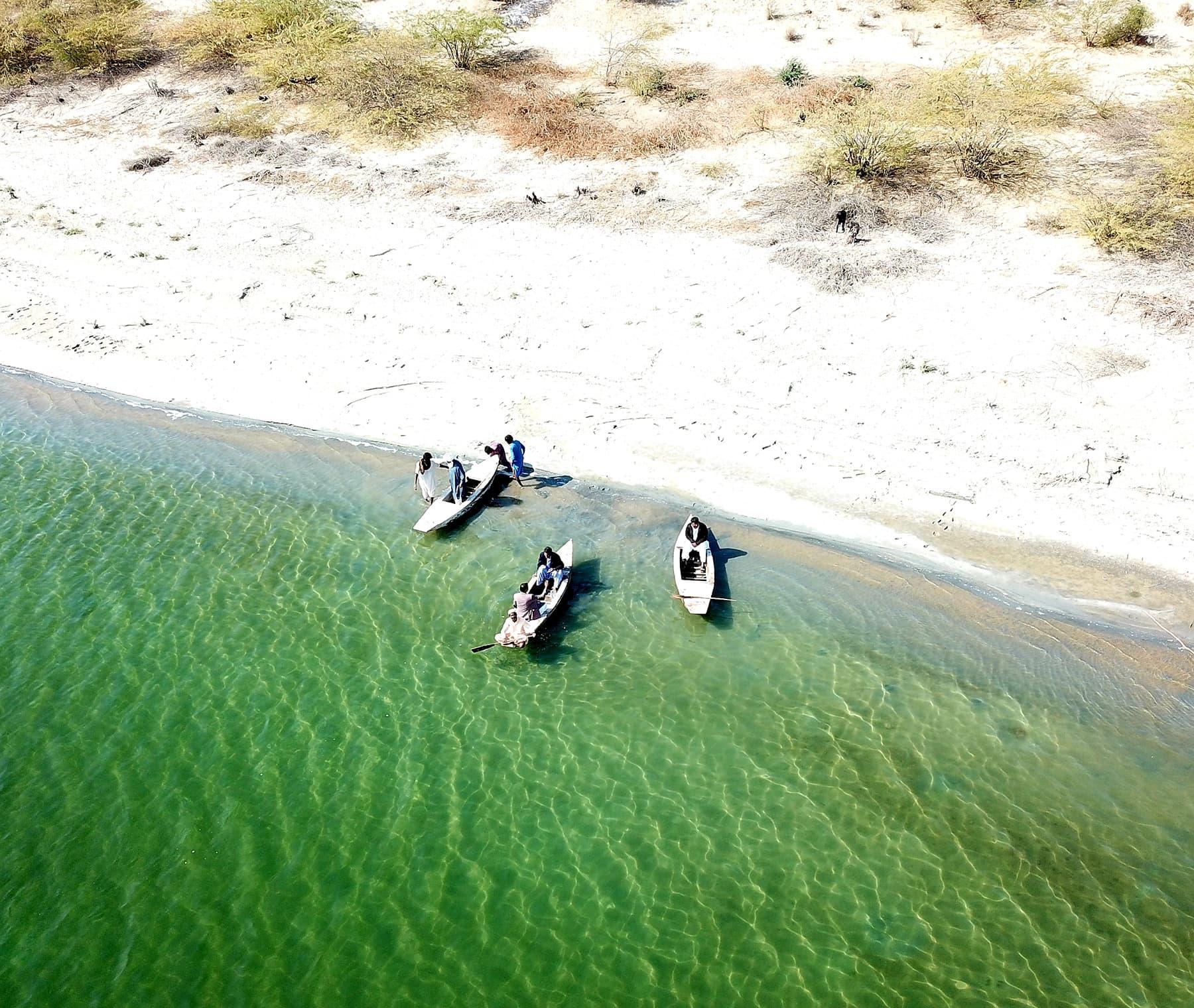 کلانکر جھیل کا ایک فضائی منظر—تصویر نظر ولھاری