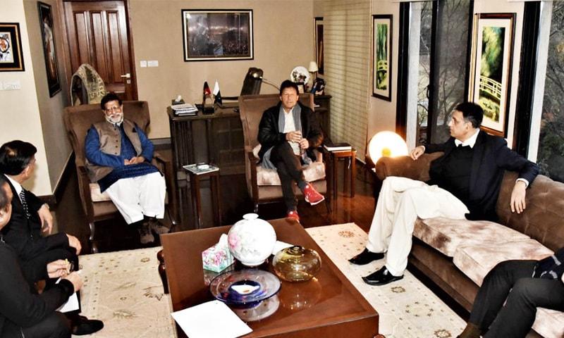 پی ٹی آئی رہنماؤں کا اجلاس وزیراعظم عمران خان کی سربراہی میں منعقد ہوا—فوٹو: پی آئی ڈی