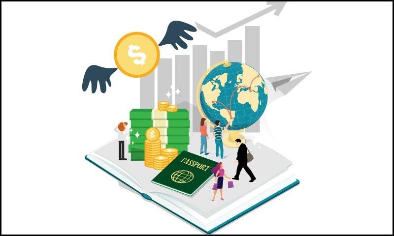 داخلہ ملنے کے باوجود ایمان کینیڈا نہیں گئی کیونکہ ڈالر کی بڑھتی قیمت کے سبب ان کے تعلیمی اخراجات پورے ہونا ممکن نہیں رہے—خاکہ: سعد عارفی