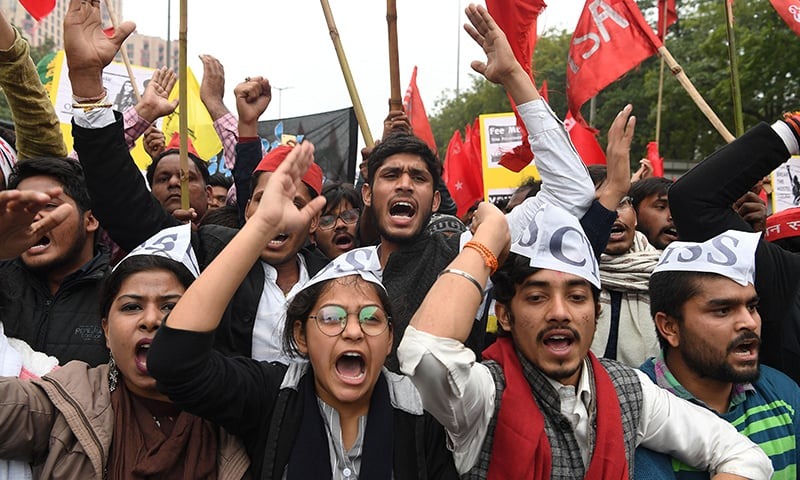Jobless youth march to protest Indian 'unemployment crisis'
