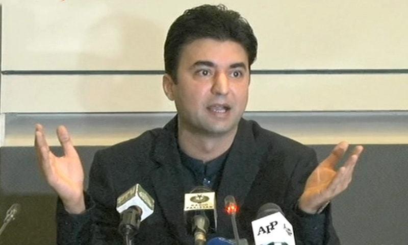 مراد سعید نے کہا کہ (ن) لیگ  نے منصوبے کے ٹھیکے من پسند کمپنیوں کو دیے تھے — فوٹو: ڈان نیوز