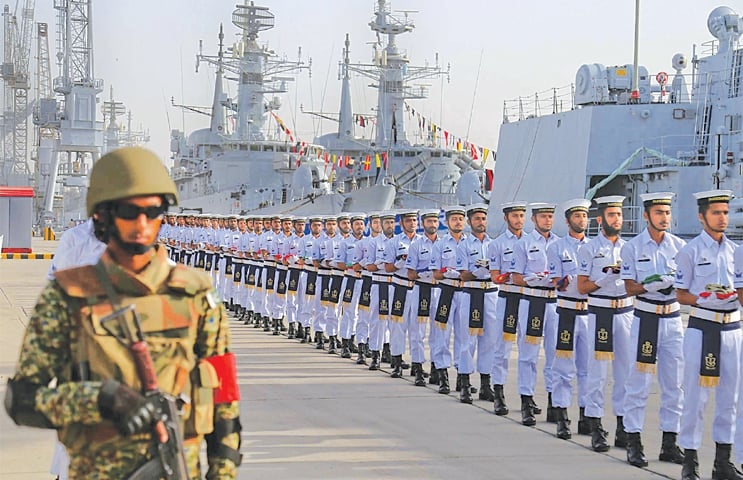 Karachi: The opening ceremony of Pakistan Navy's multinational exercise Aman-19 is under way on Friday. The five-day exercise is aimed at enhancing cooperation for keeping the seas safe from pirates, terrorists and smugglers.—White Star